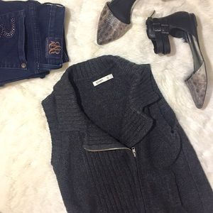 Old Navy Charcoal Gray Zipper Sweater Vest